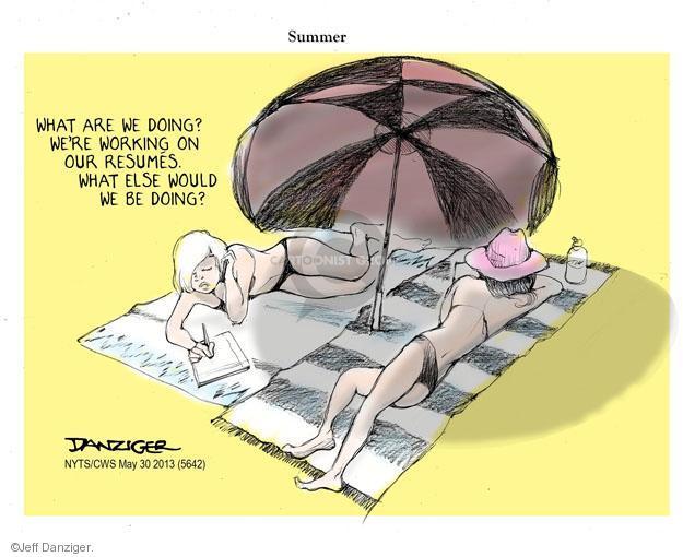 Cartoonist Jeff Danziger  Jeff Danziger's Editorial Cartoons 2013-05-30 vacation