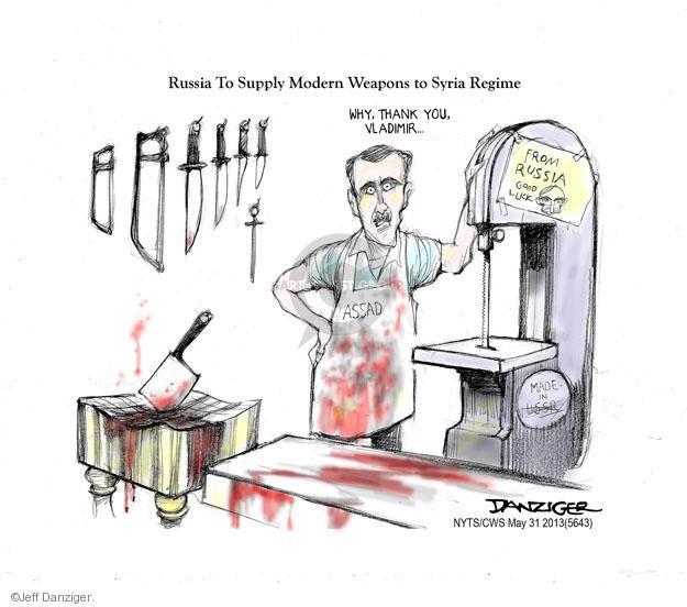 Jeff Danziger  Jeff Danziger's Editorial Cartoons 2013-05-31 good