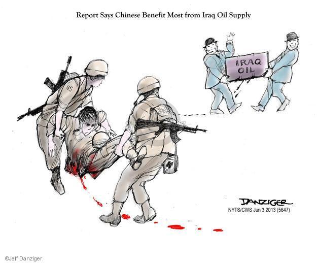 Cartoonist Jeff Danziger  Jeff Danziger's Editorial Cartoons 2013-06-03 military wounded
