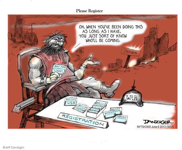 Cartoonist Jeff Danziger  Jeff Danziger's Editorial Cartoons 2013-06-06 registration