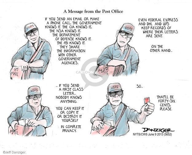 Jeff Danziger  Jeff Danziger's Editorial Cartoons 2013-06-09 message
