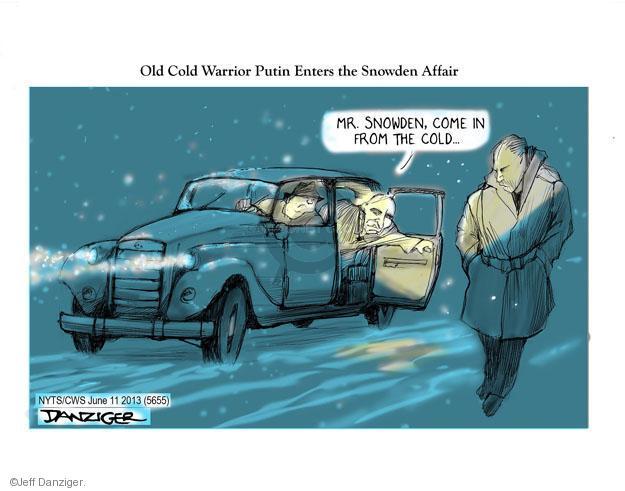Cartoonist Jeff Danziger  Jeff Danziger's Editorial Cartoons 2013-06-11 Russian President