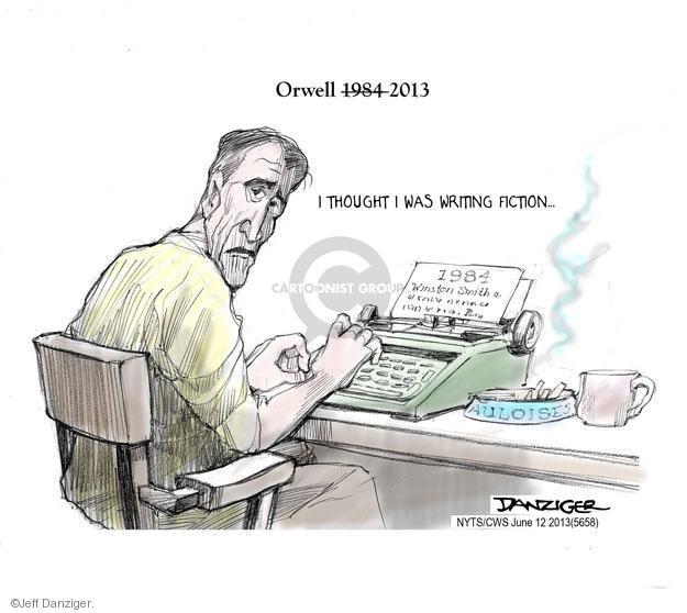 Cartoonist Jeff Danziger  Jeff Danziger's Editorial Cartoons 2013-06-12 fiction