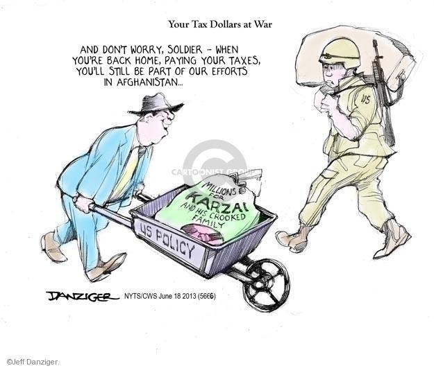 Jeff Danziger  Jeff Danziger's Editorial Cartoons 2013-06-18 Afghan