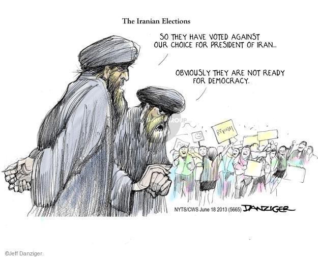 Jeff Danziger  Jeff Danziger's Editorial Cartoons 2013-06-18 election result