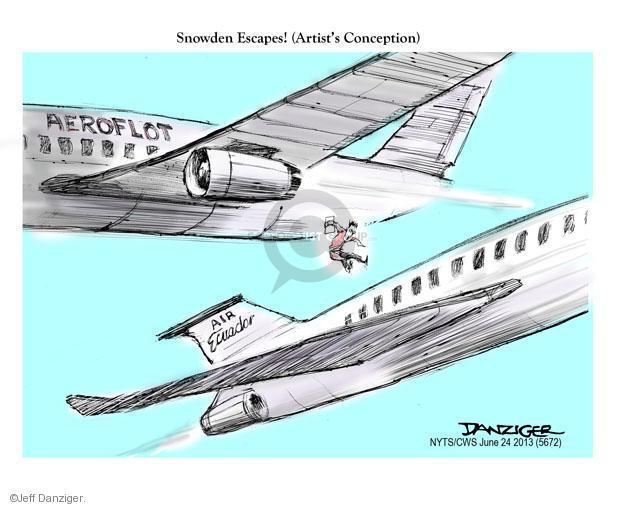 Cartoonist Jeff Danziger  Jeff Danziger's Editorial Cartoons 2013-06-24 political asylum