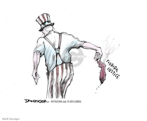 Cartoonist Jeff Danziger  Jeff Danziger's Editorial Cartoons 2013-07-15 legal system