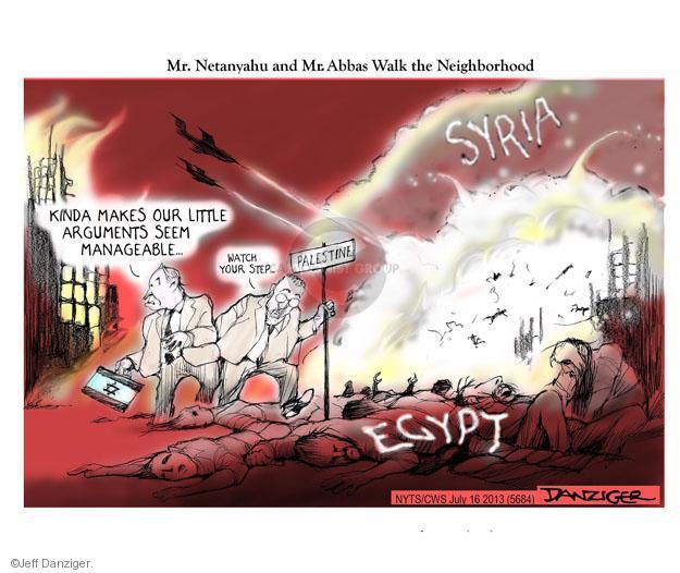 Jeff Danziger  Jeff Danziger's Editorial Cartoons 2013-07-16 Israel Palestine