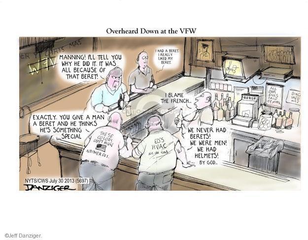 Cartoonist Jeff Danziger  Jeff Danziger's Editorial Cartoons 2013-07-31 helmet
