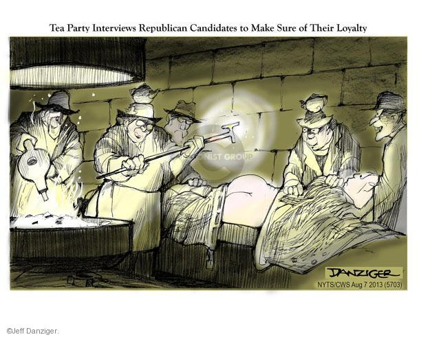 Cartoonist Jeff Danziger  Jeff Danziger's Editorial Cartoons 2013-08-07 party loyalty