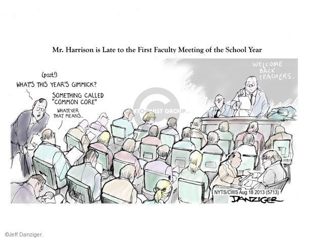 Cartoonist Jeff Danziger  Jeff Danziger's Editorial Cartoons 2013-08-18 back to school