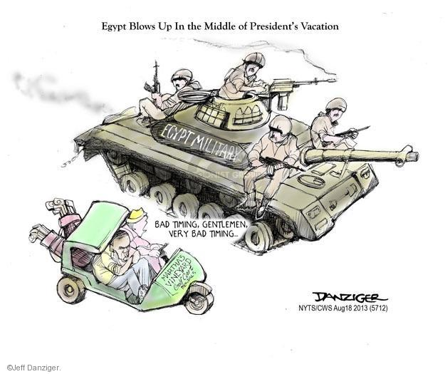 Cartoonist Jeff Danziger  Jeff Danziger's Editorial Cartoons 2013-08-18 vacation