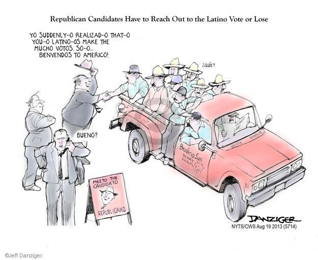 Cartoonist Jeff Danziger  Jeff Danziger's Editorial Cartoons 2013-08-19 candidates republicans