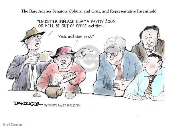 Cartoonist Jeff Danziger  Jeff Danziger's Editorial Cartoons 2013-08-27 party loyalty