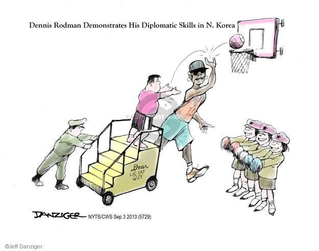 Cartoonist Jeff Danziger  Jeff Danziger's Editorial Cartoons 2013-09-03 basketball player