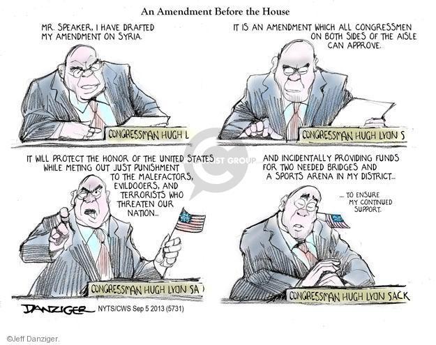 Jeff Danziger  Jeff Danziger's Editorial Cartoons 2013-09-05 United States
