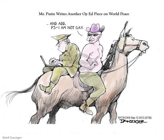 Cartoonist Jeff Danziger  Jeff Danziger's Editorial Cartoons 2013-09-12 ADD