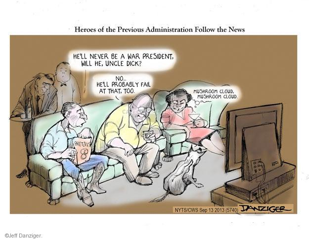 Jeff Danziger  Jeff Danziger's Editorial Cartoons 2013-09-13 Bush administration