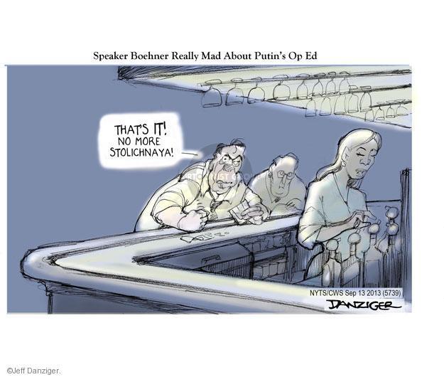 Cartoonist Jeff Danziger  Jeff Danziger's Editorial Cartoons 2013-09-13 Russian President