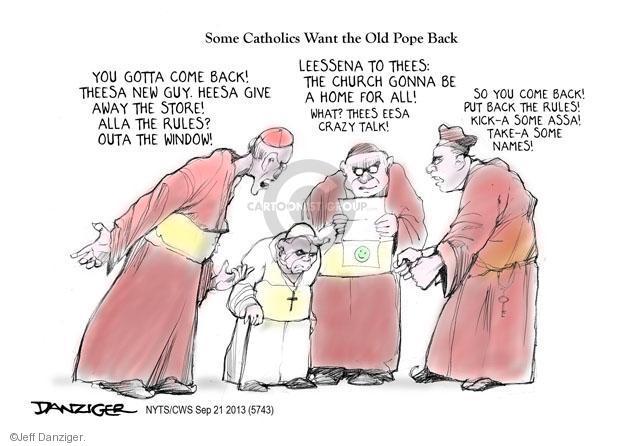 Cartoonist Jeff Danziger  Jeff Danziger's Editorial Cartoons 2013-09-21 Catholicism