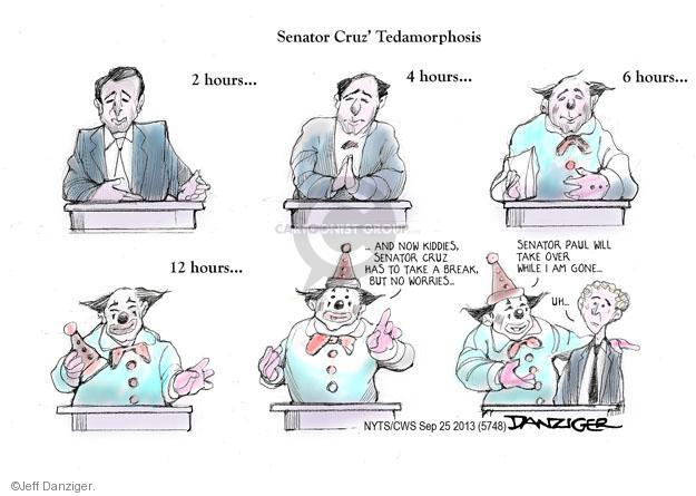 Cartoonist Jeff Danziger  Jeff Danziger's Editorial Cartoons 2013-09-25 republican politician