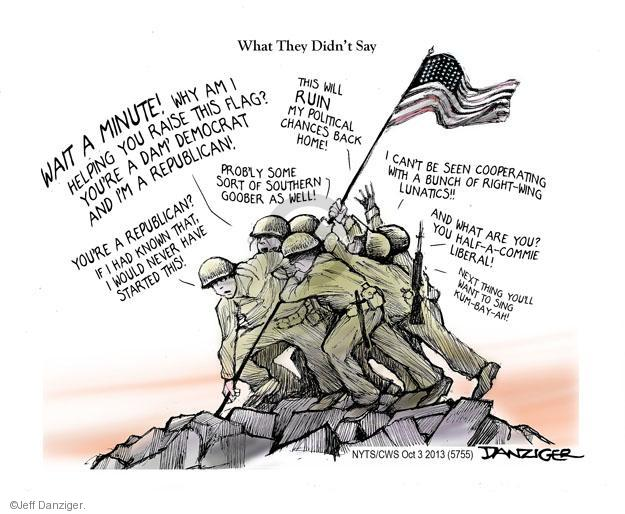 Cartoonist Jeff Danziger  Jeff Danziger's Editorial Cartoons 2013-10-03 World War II