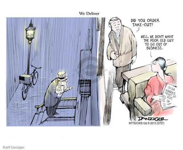Cartoonist Jeff Danziger  Jeff Danziger's Editorial Cartoons 2013-10-08 debt