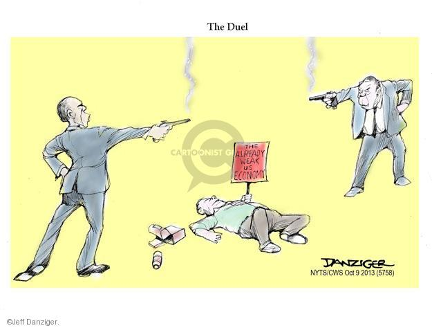 Cartoonist Jeff Danziger  Jeff Danziger's Editorial Cartoons 2013-10-09 United States
