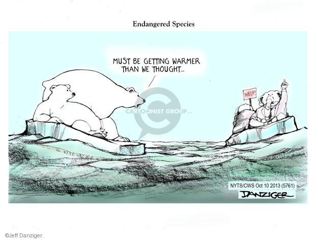 Cartoonist Jeff Danziger  Jeff Danziger's Editorial Cartoons 2013-10-10 party loyalty