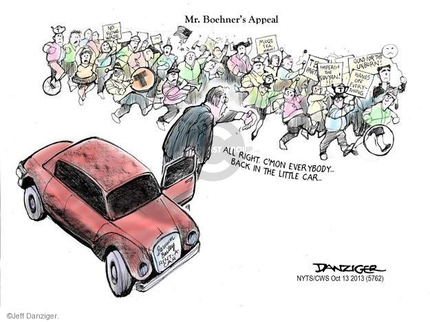 Cartoonist Jeff Danziger  Jeff Danziger's Editorial Cartoons 2013-10-13 party loyalty