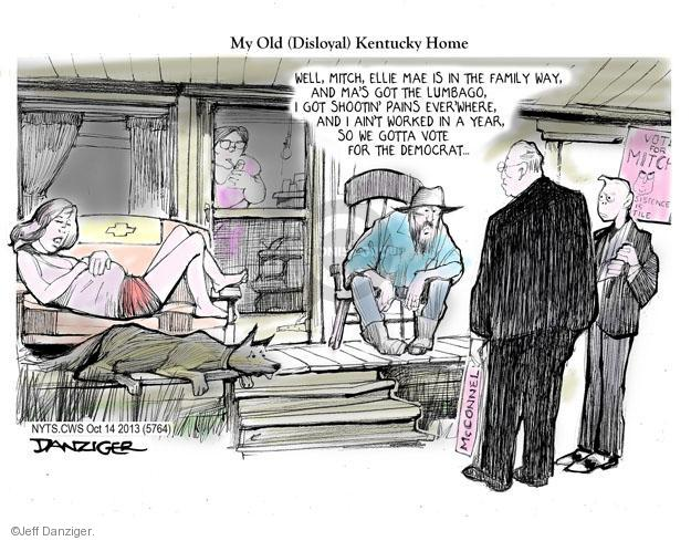 Jeff Danziger  Jeff Danziger's Editorial Cartoons 2013-10-14 Mitch McConnell