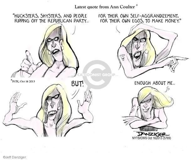 Jeff Danziger  Jeff Danziger's Editorial Cartoons 2013-10-16 Ann Coulter