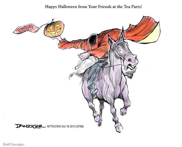 Cartoonist Jeff Danziger  Jeff Danziger's Editorial Cartoons 2013-10-16 Halloween
