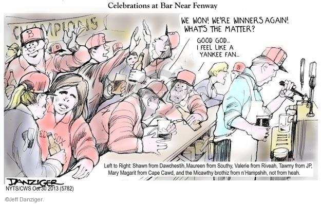 Cartoonist Jeff Danziger  Jeff Danziger's Editorial Cartoons 2013-10-30 championship