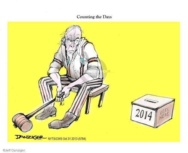 Cartoonist Jeff Danziger  Jeff Danziger's Editorial Cartoons 2013-10-31 election day