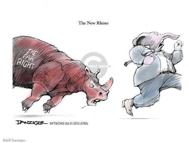 Cartoonist Jeff Danziger  Jeff Danziger's Editorial Cartoons 2013-10-31 republican politician