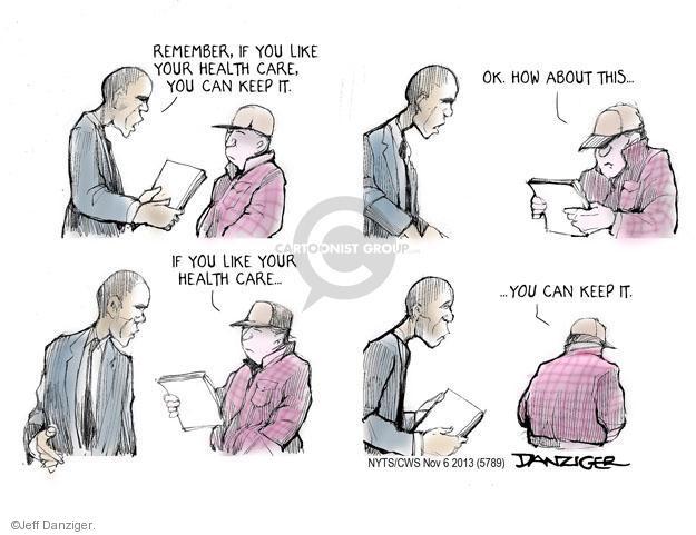 Cartoonist Jeff Danziger  Jeff Danziger's Editorial Cartoons 2013-11-06 healthcare.gov