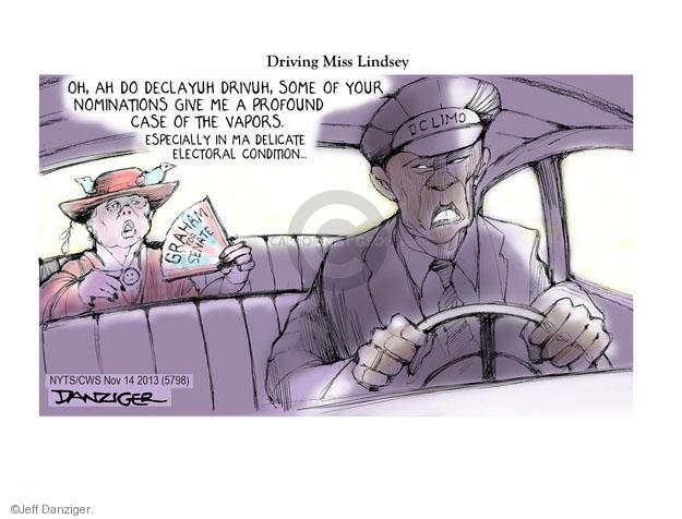 Jeff Danziger  Jeff Danziger's Editorial Cartoons 2013-11-14 Lindsey