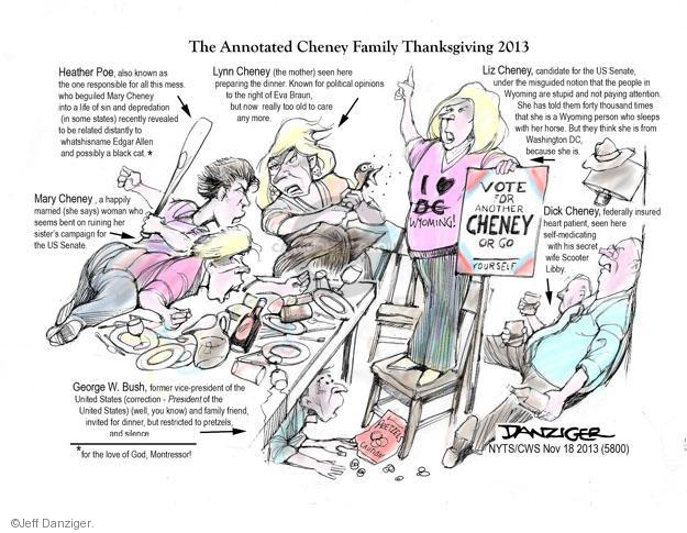 Cartoonist Jeff Danziger  Jeff Danziger's Editorial Cartoons 2013-11-18 United States
