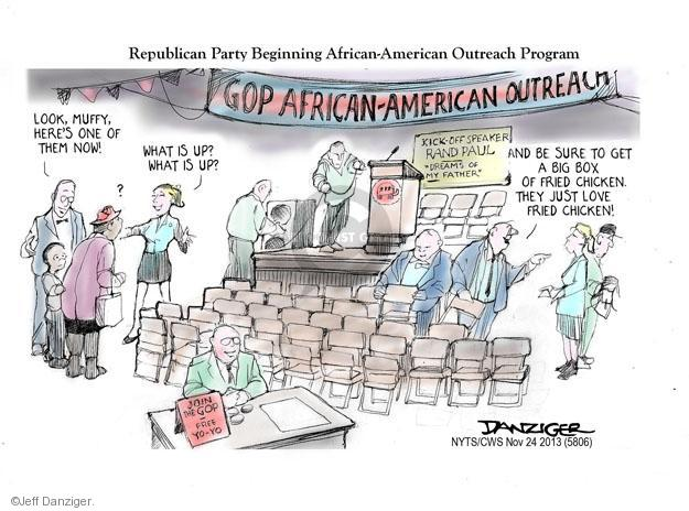 Cartoonist Jeff Danziger  Jeff Danziger's Editorial Cartoons 2013-11-24 republican politician