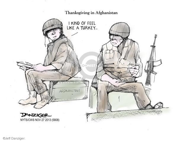 Cartoonist Jeff Danziger  Jeff Danziger's Editorial Cartoons 2013-11-27 United States