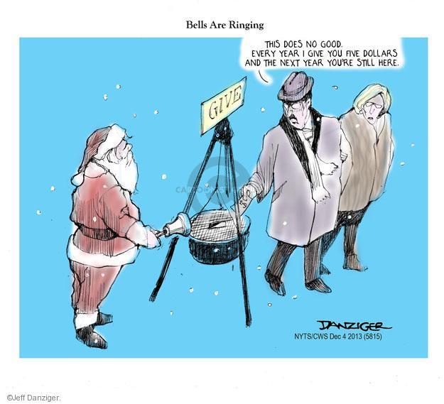 Cartoonist Jeff Danziger  Jeff Danziger's Editorial Cartoons 2013-12-04 charity
