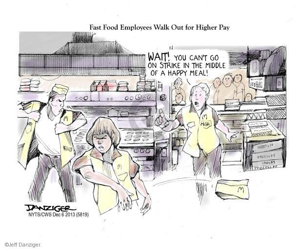 Cartoonist Jeff Danziger  Jeff Danziger's Editorial Cartoons 2013-12-06 higher pay