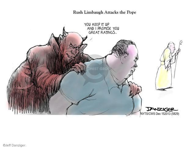 Cartoonist Jeff Danziger  Jeff Danziger's Editorial Cartoons 2013-12-15 devil