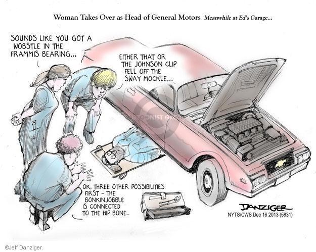 Cartoonist Jeff Danziger  Jeff Danziger's Editorial Cartoons 2013-12-16 car manufacturer