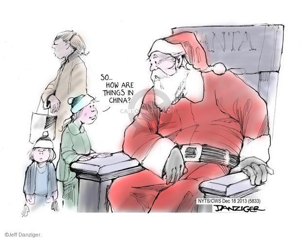 Cartoonist Jeff Danziger  Jeff Danziger's Editorial Cartoons 2013-12-17 Christmas