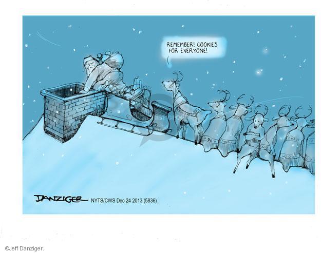 Cartoonist Jeff Danziger  Jeff Danziger's Editorial Cartoons 2013-12-24 Christmas cookie