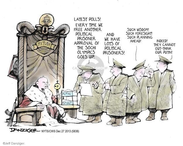 Cartoonist Jeff Danziger  Jeff Danziger's Editorial Cartoons 2013-12-26 wisdom