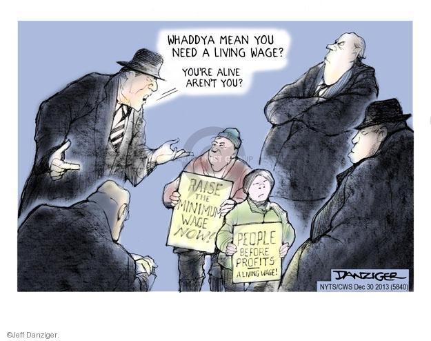 Jeff Danziger  Jeff Danziger's Editorial Cartoons 2013-12-30 protester