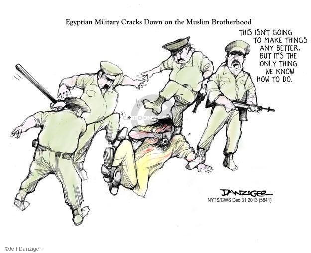 Cartoonist Jeff Danziger  Jeff Danziger's Editorial Cartoons 2013-12-31 police violence